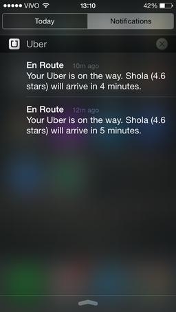 uber push notification