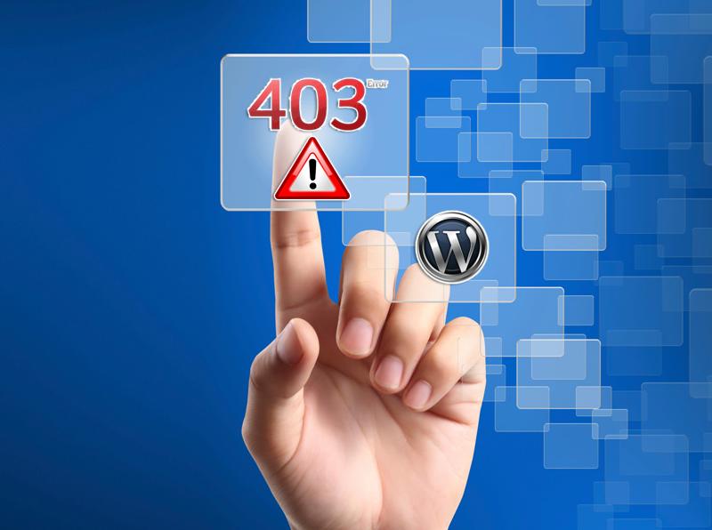 wordpress 403 error