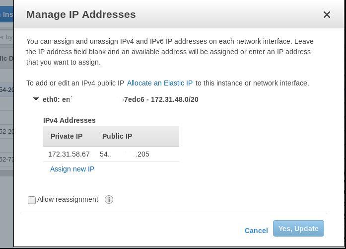 amazon ec2 genrate private ip