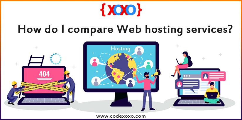 How do I compare Web hosting services